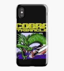 Cobra Triangle - Black Background Only iPhone Case
