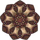 Purple, Orange and Stone Mandala by WelshPixie