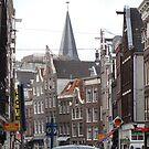 Crowded street Amsterdam by christinawalker