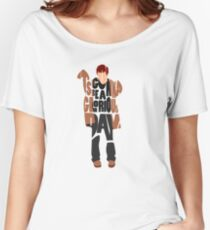 Typographic and Minimalist Thom Yorke Illustration Women's Relaxed Fit T-Shirt