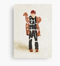 Typographic and Minimalist Thom Yorke Illustration Canvas Print