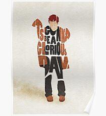 Typographic and Minimalist Thom Yorke Illustration Poster