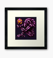 Super Metroid Pink Chozo Framed Print