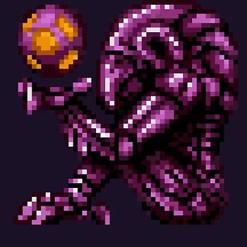 Super Metroid Pink Chozo by DukeJaywalker