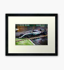 Lewis Hamilton Monza 2017 Framed Print