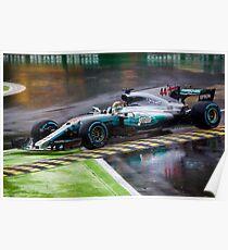 Lewis Hamilton Monza 2017 Poster