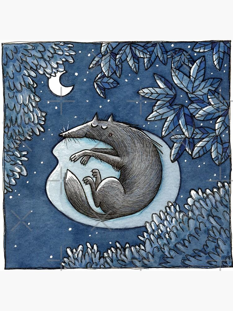 Nacht -Night- -Wolf- by JunieMond