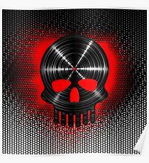 Vinyl Skull RED Poster