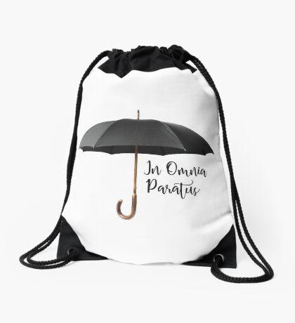 In Omnia Paratus Drawstring Bag