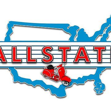 Scooter T-shirts Art: Allstate Logo Design by yj8dsk57
