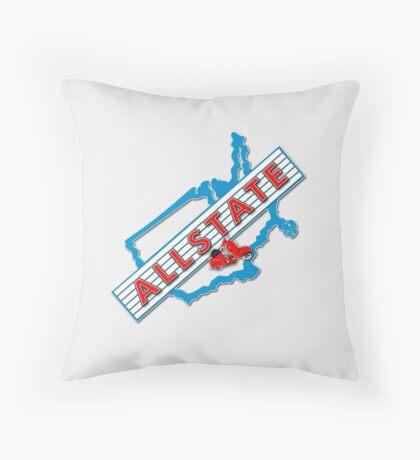 Scooter T-shirts Art: Allstate Logo Design Throw Pillow