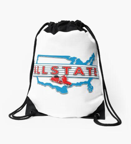 Scooter T-shirts Art: Allstate Logo Design Drawstring Bag