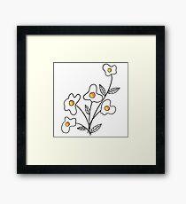 Just Add Flower Framed Print