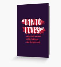 Ianto lives! Greeting Card