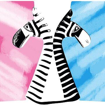 Pink for girls, blue for boys by E-Maniak