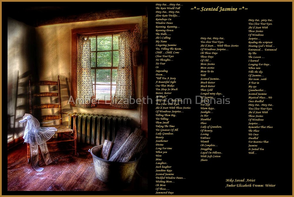 Scented Jasmine  by Amber Elizabeth Fromm Donais