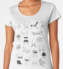Mid Century Modern Chair Collection Women's Premium T-Shirt
