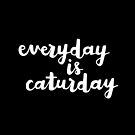 Caturday | Hand Lettered  by meandthemoon