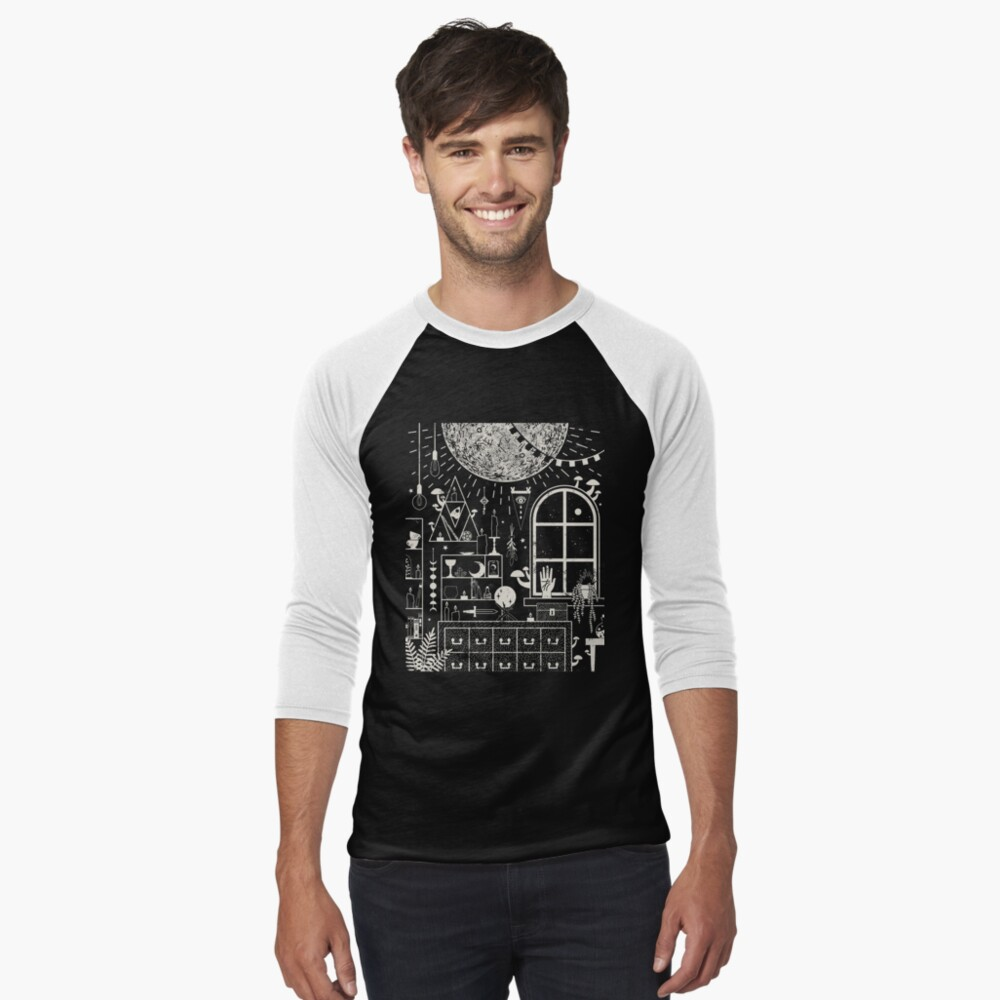 Moon Altar Baseball ¾ Sleeve T-Shirt