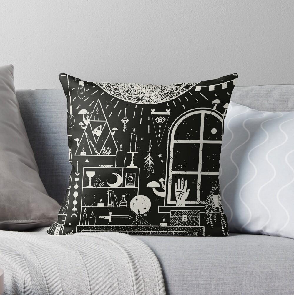 Moon Altar Throw Pillow