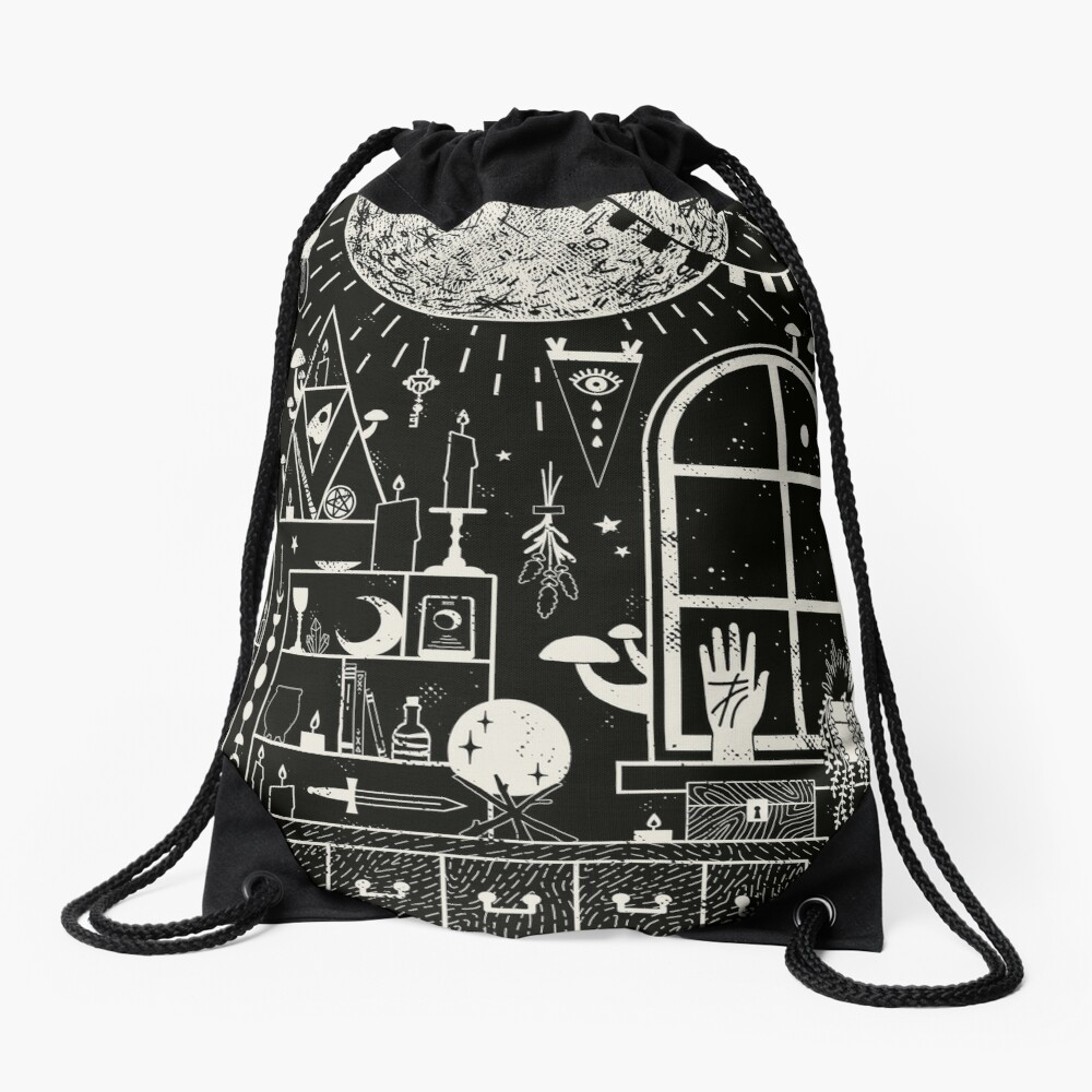Moon Altar Drawstring Bag