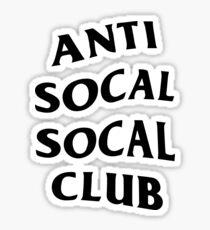 ANTI SOCAL SOCAL CLUB Sticker