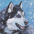 Siberian Husky Fine Art Painting by lashepard