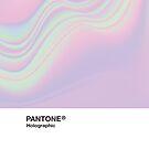 «HIPAB - Fondo estético holográfico iridiscente Pantone» de heathaze