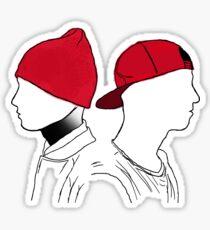 Tyler and Josh Side portrait Sticker