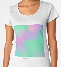 H.I.P.A.B - Holographic Iridescent Pantone Aesthetic Background pt 2 Women's Premium T-Shirt