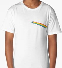 Dark Side of The Wolf Rainbow Cool Awesome Animal Design Long T-Shirt