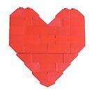 LEGO Valentine - White, Upright  by thereeljames
