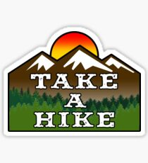 TAKE A HIKE HIKER HIKING MOUNTAINS NATURE OUTDOORS EXPLORE Sticker