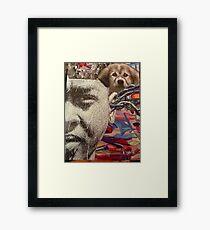 magazine art collage  Framed Print