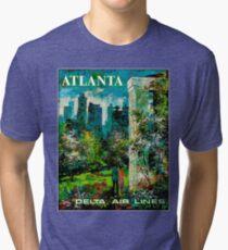 DELTA AIR LINES : Vintage Fly to Atlanta Print Tri-blend T-Shirt