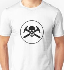 Architectural Jolly Rogers w/ circle - Black Image Unisex T-Shirt