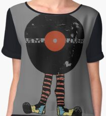 Funny Vinyl Records Lover - Grunge Vinyl Record Chiffon Top
