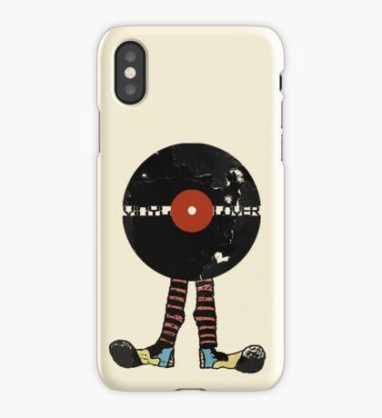 Funny Vinyl Records Lover - Grunge Vinyl Record iPhone Case/Skin