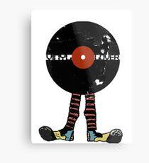 Funny Vinyl Records Lover - Grunge Vinyl Record Metal Print