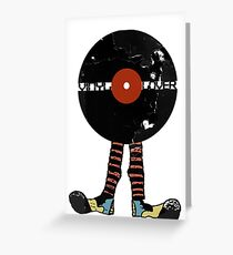 Funny Vinyl Records Lover - Grunge Vinyl Record Greeting Card