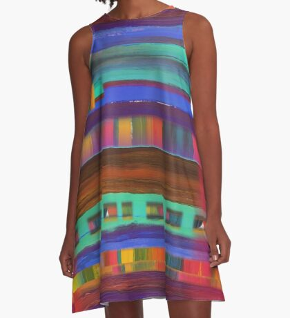 Santa Fe Sunset A-Line Dress