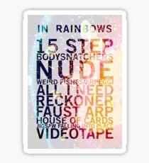 Radiohead - In Rainbows Sticker