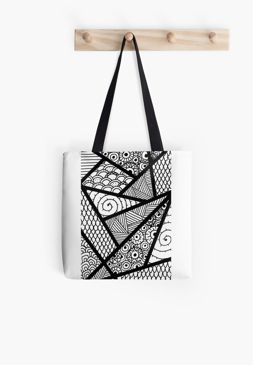 Tote bag drawing - Zentangle Pattern Drawing By Miasdrawings