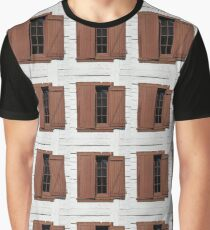 Open and Shuttered Graphic T-Shirt