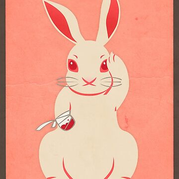 Not so lucky white rabbit by lizzelizzel