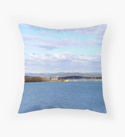 Carillon and Lake Throw Pillow