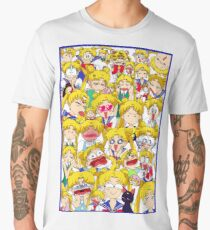 Usagi's faces Men's Premium T-Shirt