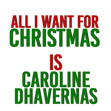 All I Want For Christmas (Caroline Dhavernas) by MizSarie