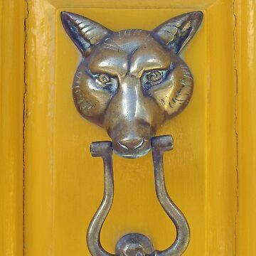 Fox Head Door Knocker by ethna
