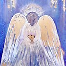 Angel of Love and Light (Golden Wings) Angel Guardian by nelinda